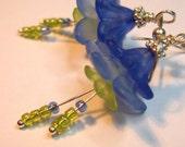 FREE SHIPPING - - BLUE BELLS - EARRINGS