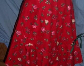 Christmas Poinsetia Apron
