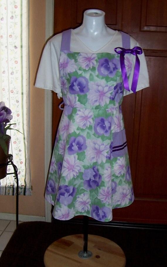 Lavender/Flower Apron