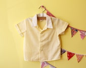 Lil' Greaser Yellow Vintage Baby Oxford Shirt