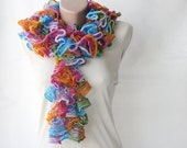 Ruffle Knit scarf colorful rainbow colors multicolor spring fashion spring accessories
