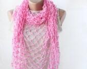 Pink summer shawl  spring summer fashion pure cotton natural vegan