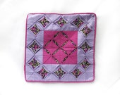 Pillow cover - Purple origami patchwork quilt Hand applique Heirloom All new fabrics Pillow cover - violasboutique