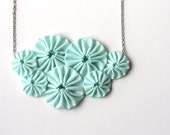 Mint green bib necklace