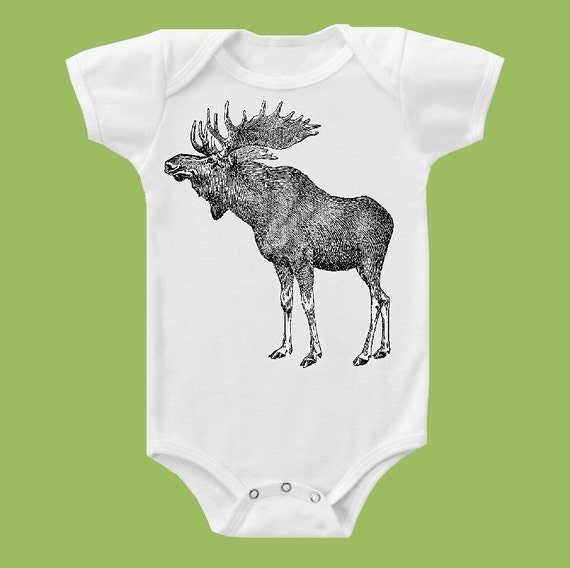 Vintage Moose, Vintage Graphic, Woodland T-Shirt, Moose shirt, Baby and Adult sizes  by ChiTownBoutique.etsy