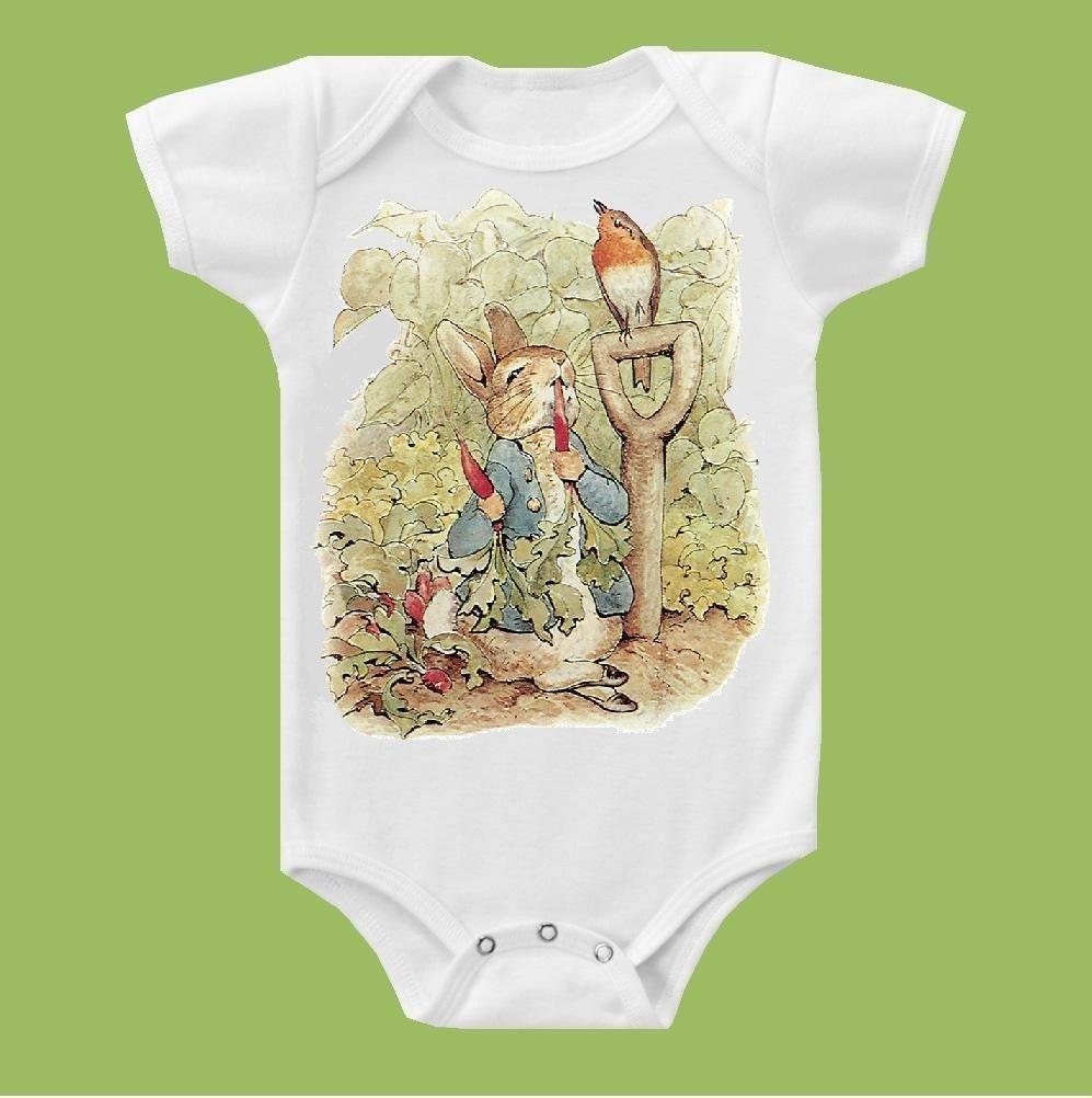 Peter Rabbit One Piece Baby Bodysuit Peter Rabbit Baby Shower