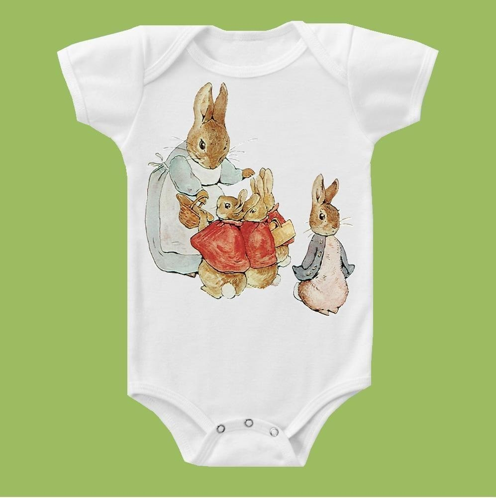 Peter Rabbit II One Piece Baby Tank or T-Shirt by