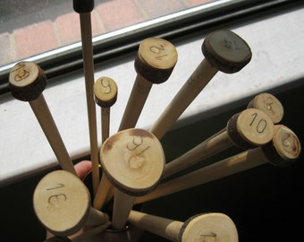 SUPER LONG Handmande Wooden Knitting Needles- US 17/12 mm