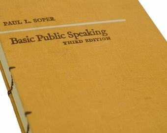 1965 PUBLIC SPEAKING Vintage Book Journal