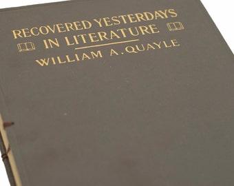 1916 LITERATURE Vintage Book Notebook Journal