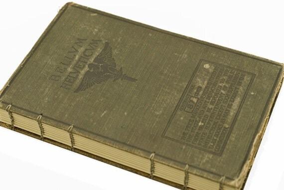 1906 Antique LATIN TEXTBOOK Notebook Journal
