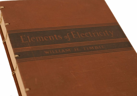 1937 ELECTRICITY Vintage Book Journal Notebook