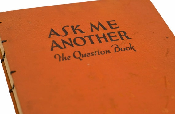 1927 QUESTION BOOK Vintage Book Journal