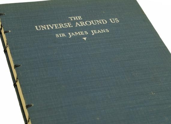 1945 UNIVERSE AROUND US Vintage Book Notebook Journal