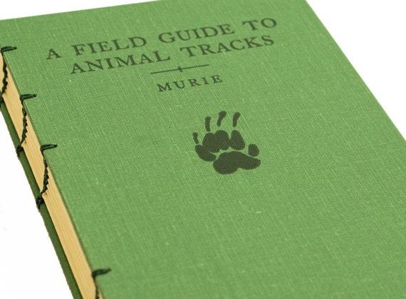 1975 ANIMAL TRACKS Vintage Field Guide Sketchbook Notebook or Journal