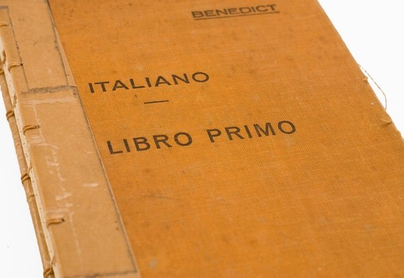 1938 ITALIANO Vintage Lined Notebook Journal