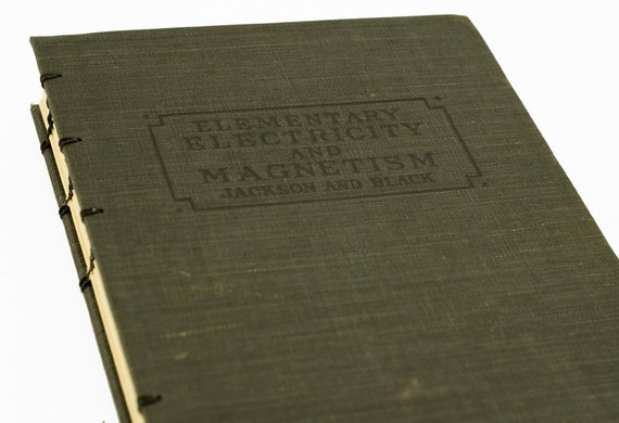 1927 ELECTRICITY and MAGNETISM Vintage Notebook Journal