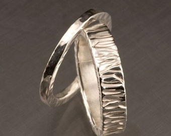 Sterling Silver Wedding Rings Stackable Custom Made