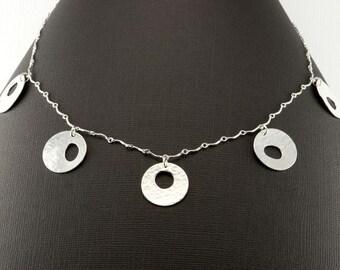 Circles Circles Circles Sterling Silver Necklace