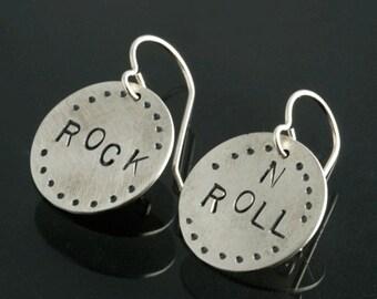 Rock N Roll Sterling Silver Earrings
