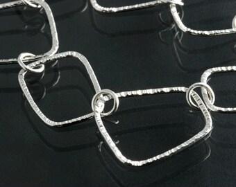 Silver Soft Square Wire Formed Bracelet