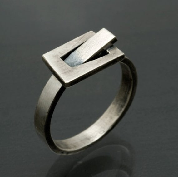 Sterling Belt Buckle Ring