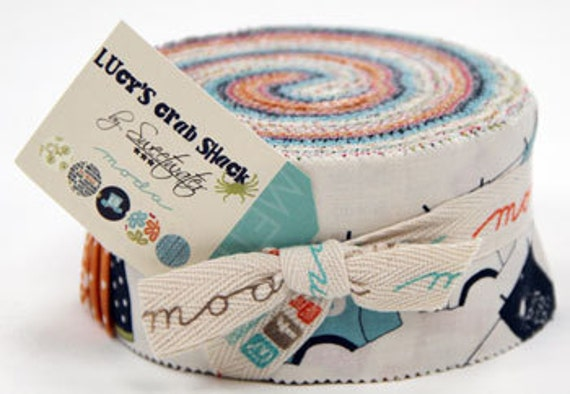 Lucy's Crab Shack Jelly Roll from Moda