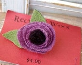 Purple Flower with a Black center (flower pin)