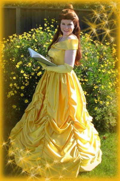 Beauty and the Beast Belle Ball gown Dress Custom costume