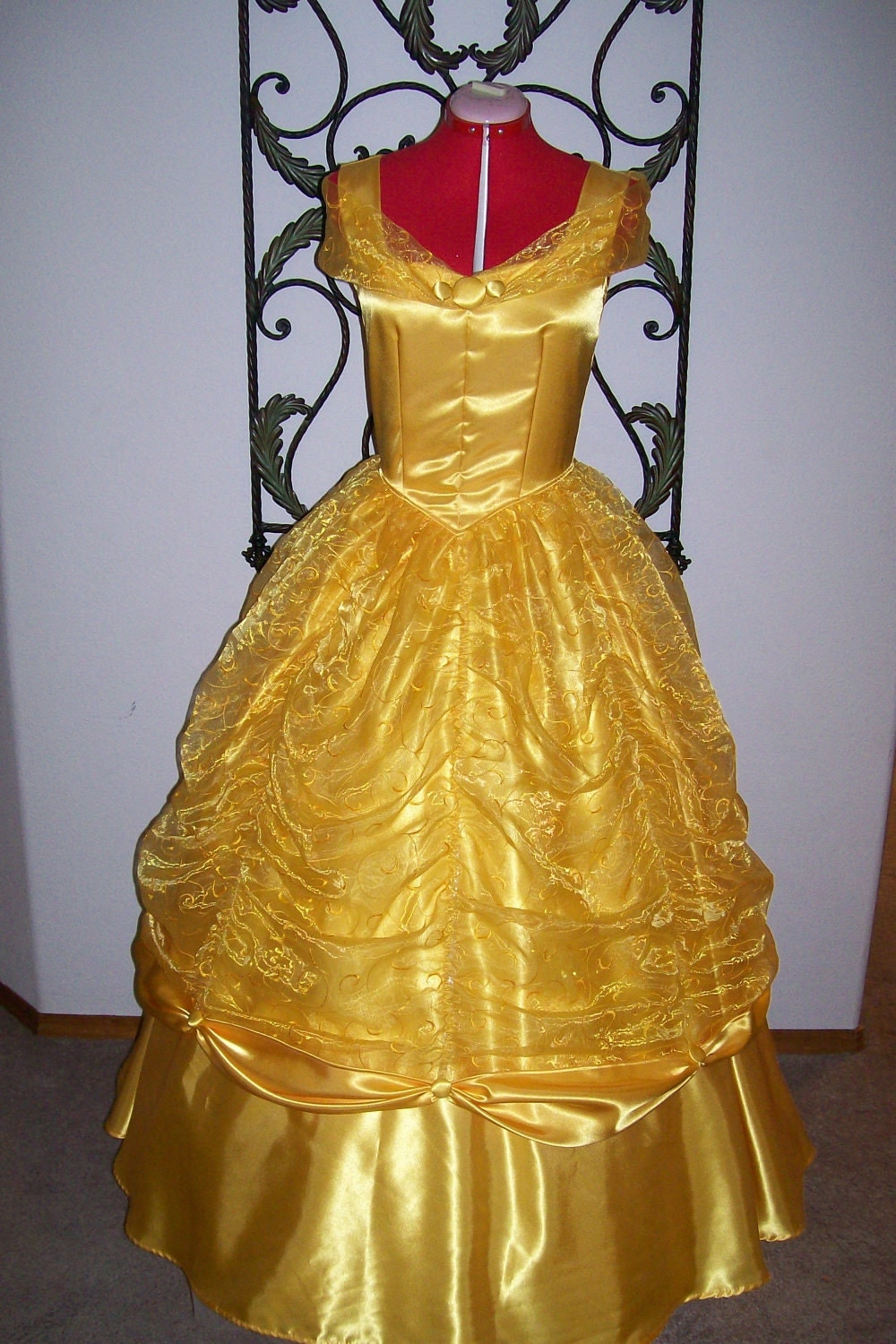 Belle Golden Yellow Ball Gown Beauty and the Beast Dress