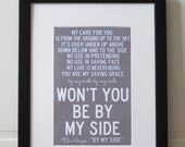 Your First Dance    Custom Lyric Print