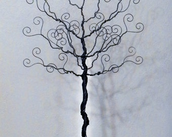 Jewelry tree, wire stand, earring hanger, necklace organizer, photo display, tree of life, family tree, 24 inches.
