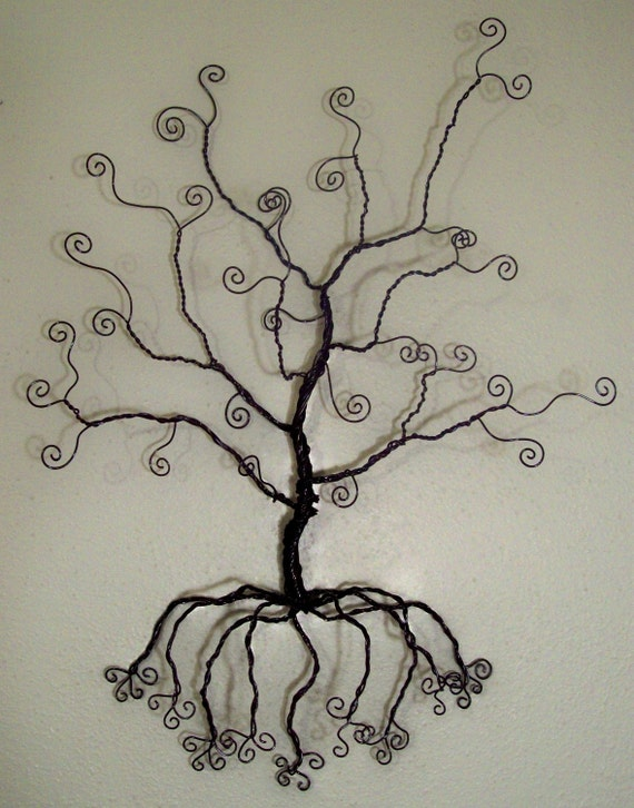 Wire Tree Wall Hanging Jewelry Holder Sculpture