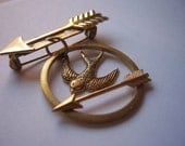 the hunger games mockingjay pin brooch for men or  women