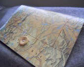 Pacific Northwest Vintage Map Clutch