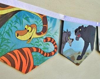the jungle book vintage little gold en book storybook bunting banner