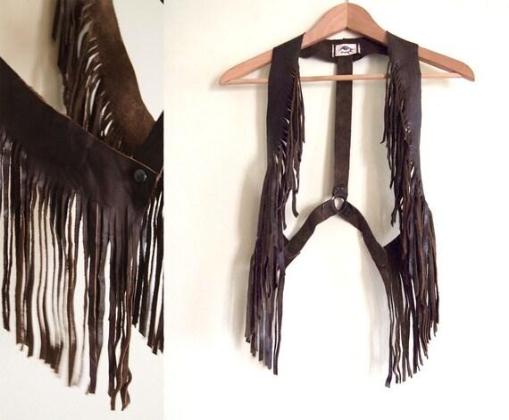 Hawk Fringe Leather Vest
