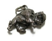 Vintage Sterling Silver Movable Buffalo Charm