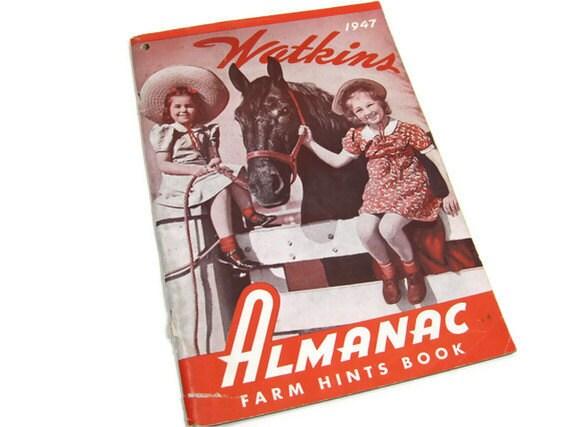 1947 Red Watkins Almanac Farm Hints Book
