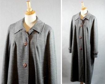 vintage 1960s grey car coat by MAR - DEL  By Rice