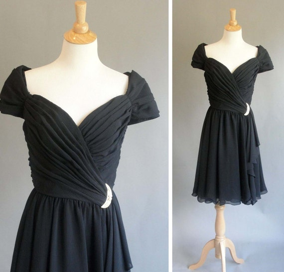 Vintage BB Collections Black Cocktail Dress