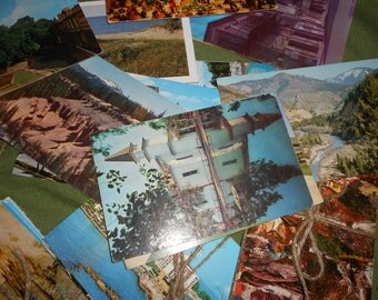 Vintage Postcards -Travel Sights Various Themes Includes Some Schmaltzy Selections - One Dozen