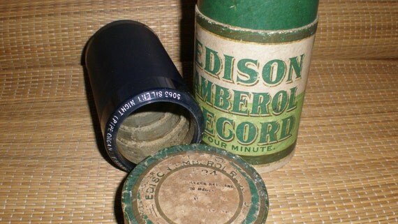 "Antique Edison Amberol Record 4 Minute Antique Wax Cylinder- ""Silent Night"" Pipe Organ-Holiday Music"