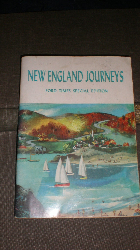 Vintage 50s New England Journeys Ford Times Special Edition-Automotive Travel Book