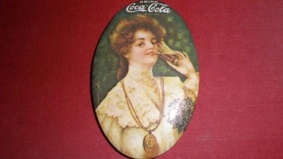 Coca Cola Mirror Vintage Pocket Sized Advertising Collectible