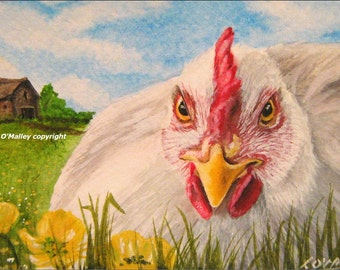 ACEO Print -Atilla the Hen- Chicken