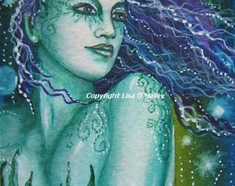 ACEO Print -Oceans Beauty Mermaid Undine
