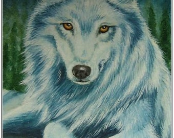 "Aceo Print ""Dream Keeper"" Wolf  Spirit Guide"