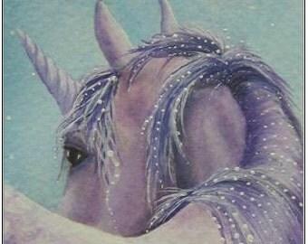 """Print """"A Dream in Amethyst """" Unicorn"""