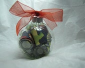 CLEARANCE SALE Paper & Glass Ball Holiday Ornament - Dinosaurs Galore